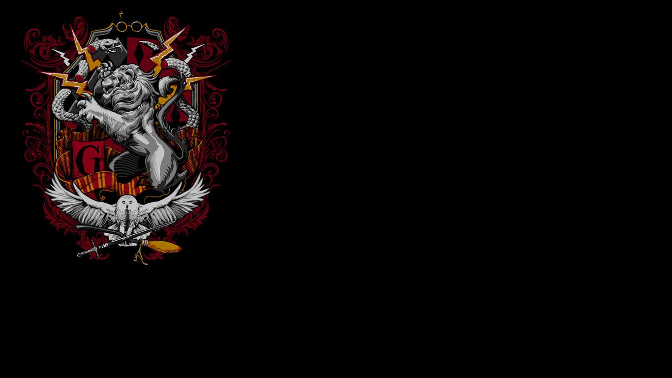 Potter Crest Hufflepuff Gryffindor Hogwarts Slytherin Ravenclaw 1366x768