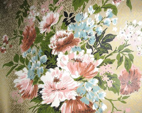 Vintage Floral Park Lane Wallpaper Reproduction of Victori Flickr 500x398