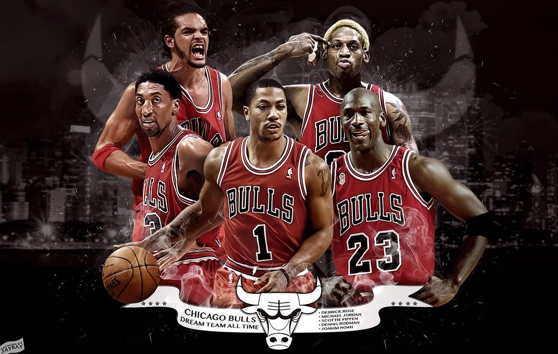 Chicago Bulls All Time Dream Team by JayRay by ArtworkByJayRay on 1121x712