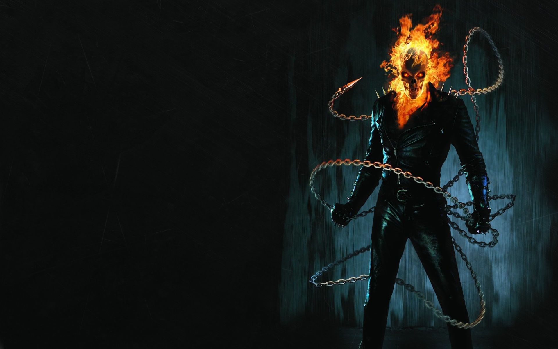 Ghost Rider comics movies dark skull skeleton fire wallpaper 1920x1200