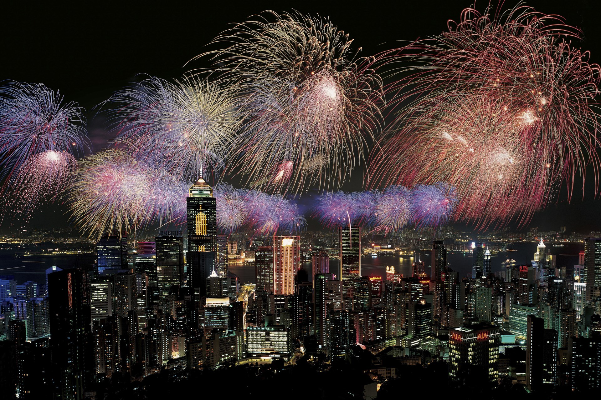 Hong Kong New Years Eve Fireworks Wallpapers New Year Time 1920x1280