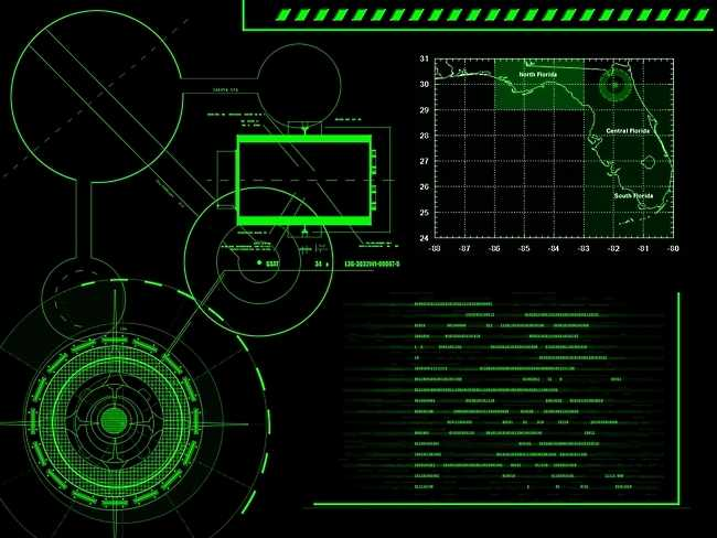 Hackerish High Tech Military Style Computer Screen [Wallpaper] 650x488