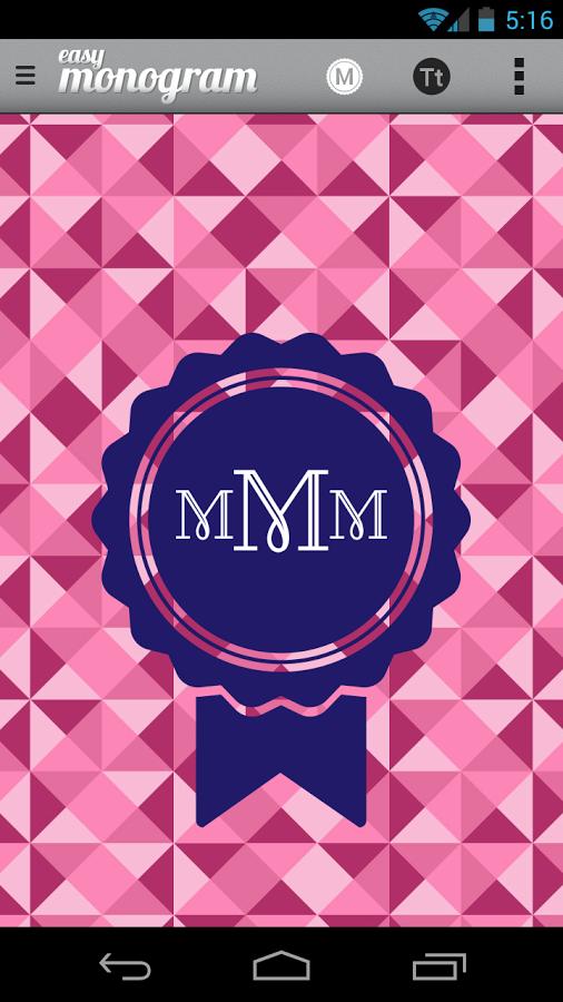 Create Your Own Wallpaper Easy Monogram