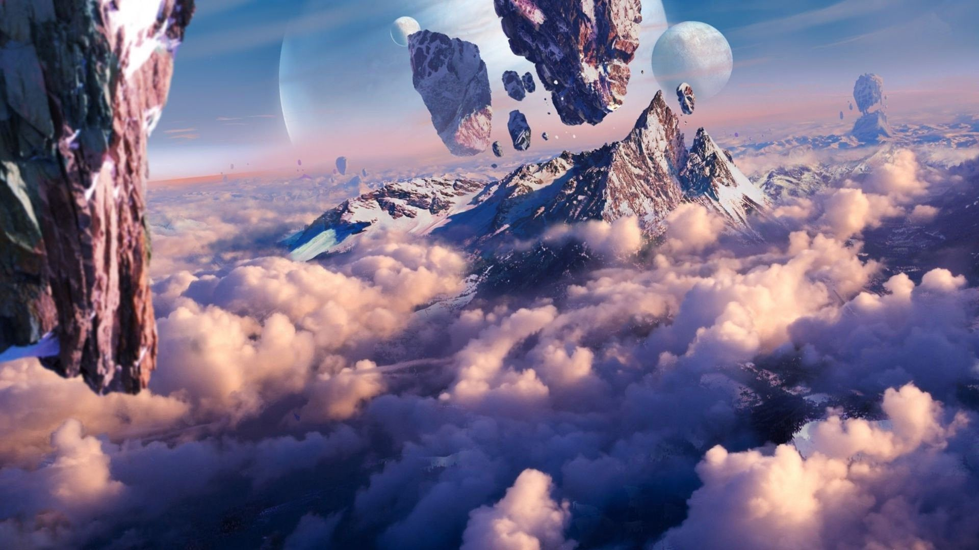 Image result for floating mountain Fantasy landscape Beautiful 1920x1080
