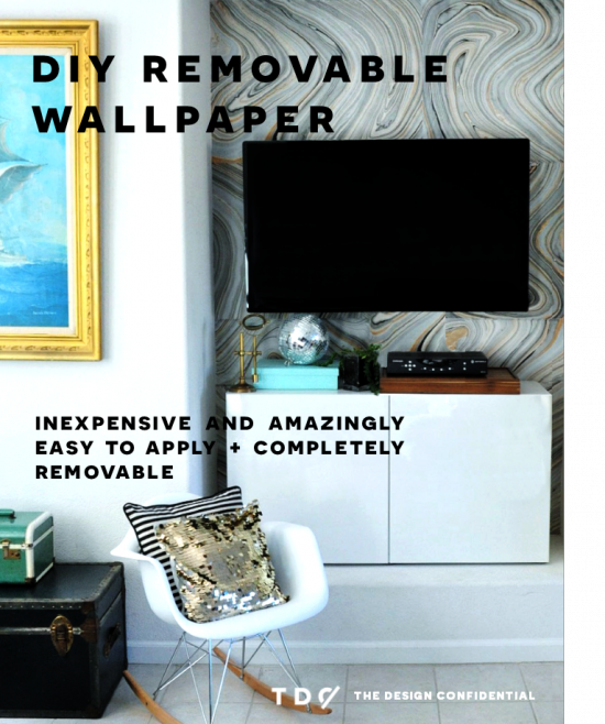 DIY Home Decor How To Make Your Own Removable Wallpaper The 550x658