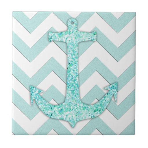Chevron Anchor Desktop Wallpaper Aqua glitter nautical anchor 512x512