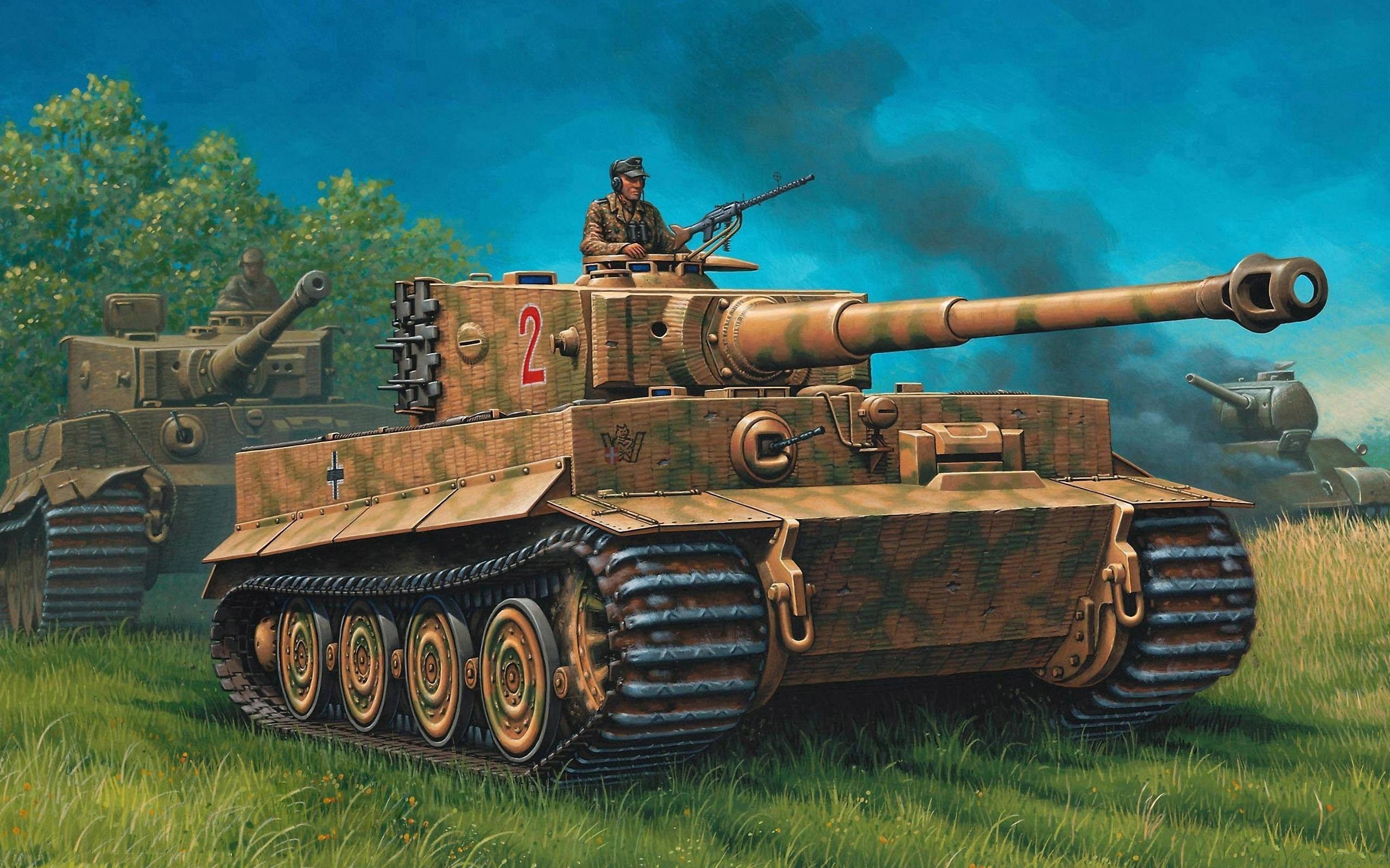 Обои для рабочего стола танк тигр 1
