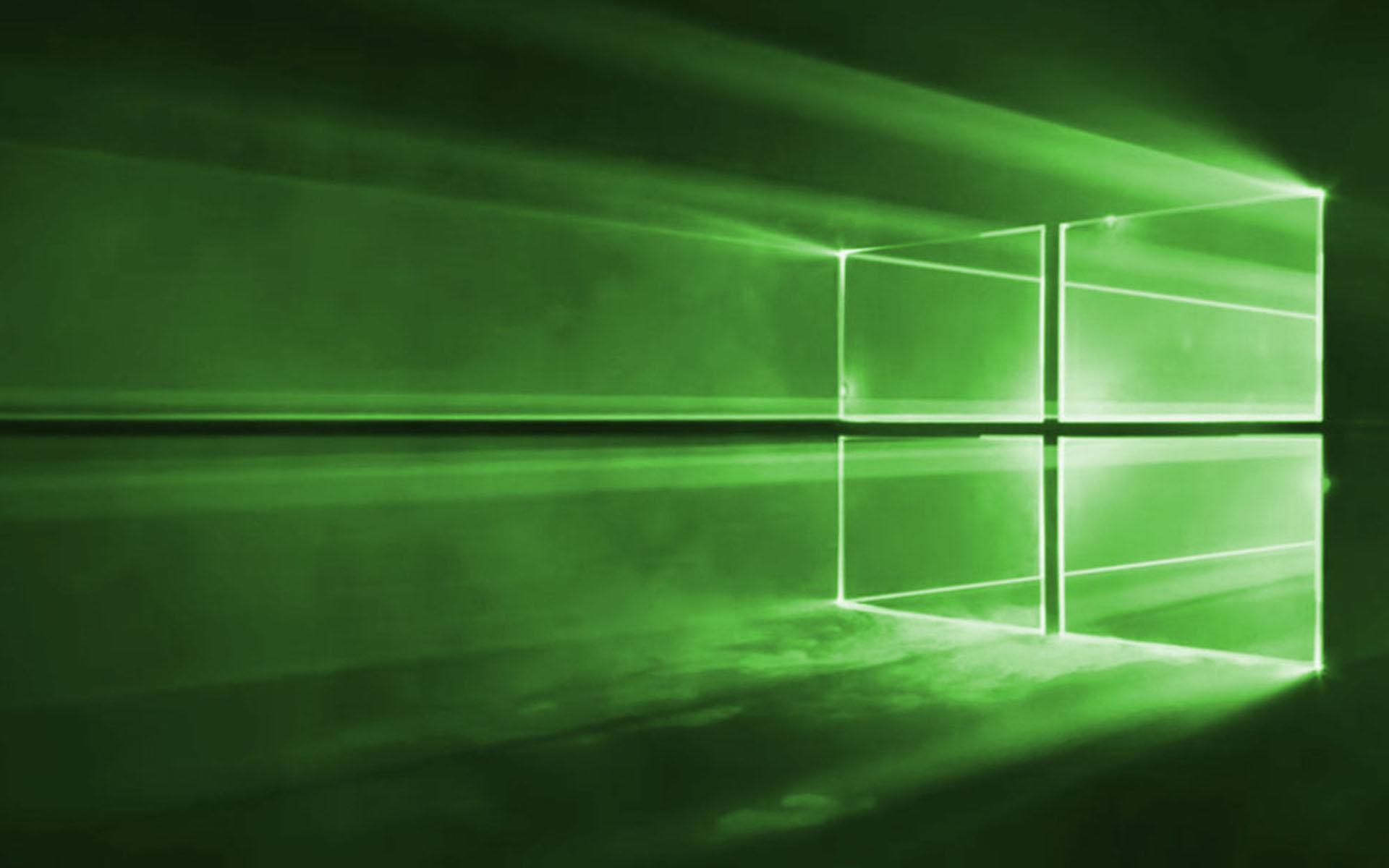 Green Windows 10 Wallpaper   Wallpapers 1920x1200