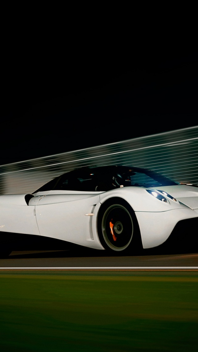 640x1136 White Pagani Huayra Iphone 5 wallpaper 640x1136