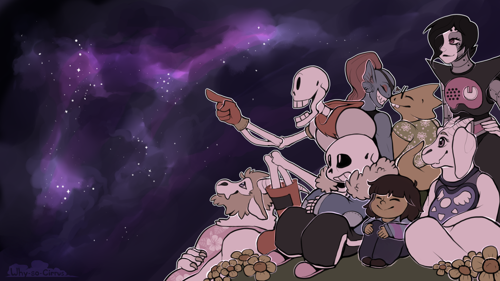 Night Sky   Undertale Wallpaper by why so cirrus 1024x577