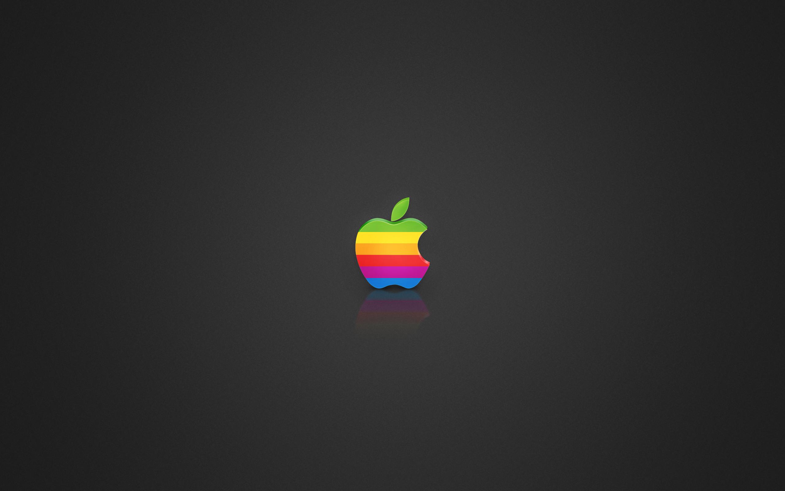 Coloured Apple logo wallpapers Coloured Apple logo stock photos 2560x1600