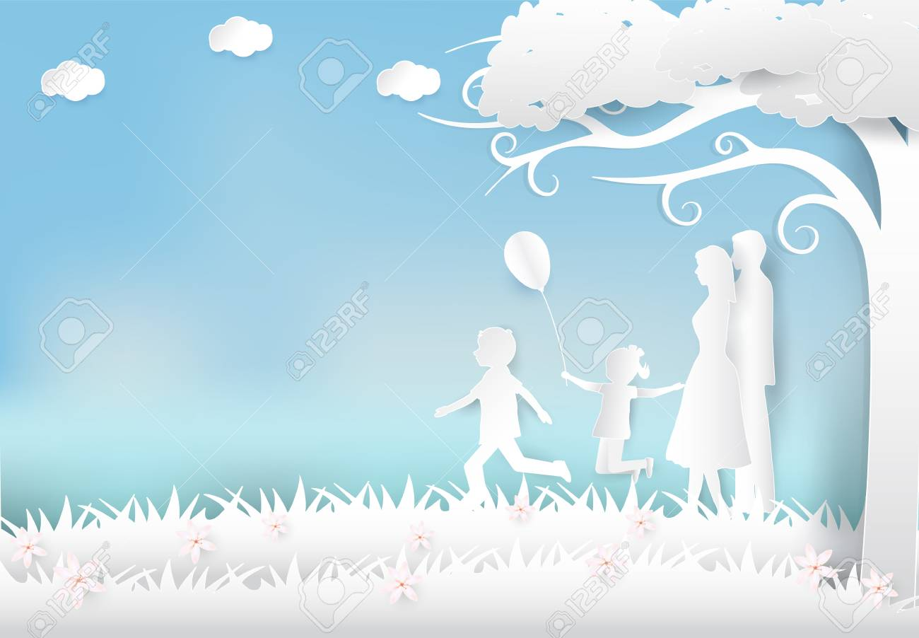 Happy Family Having Fun In The Meadow Happy Parents Day Paper 1300x902