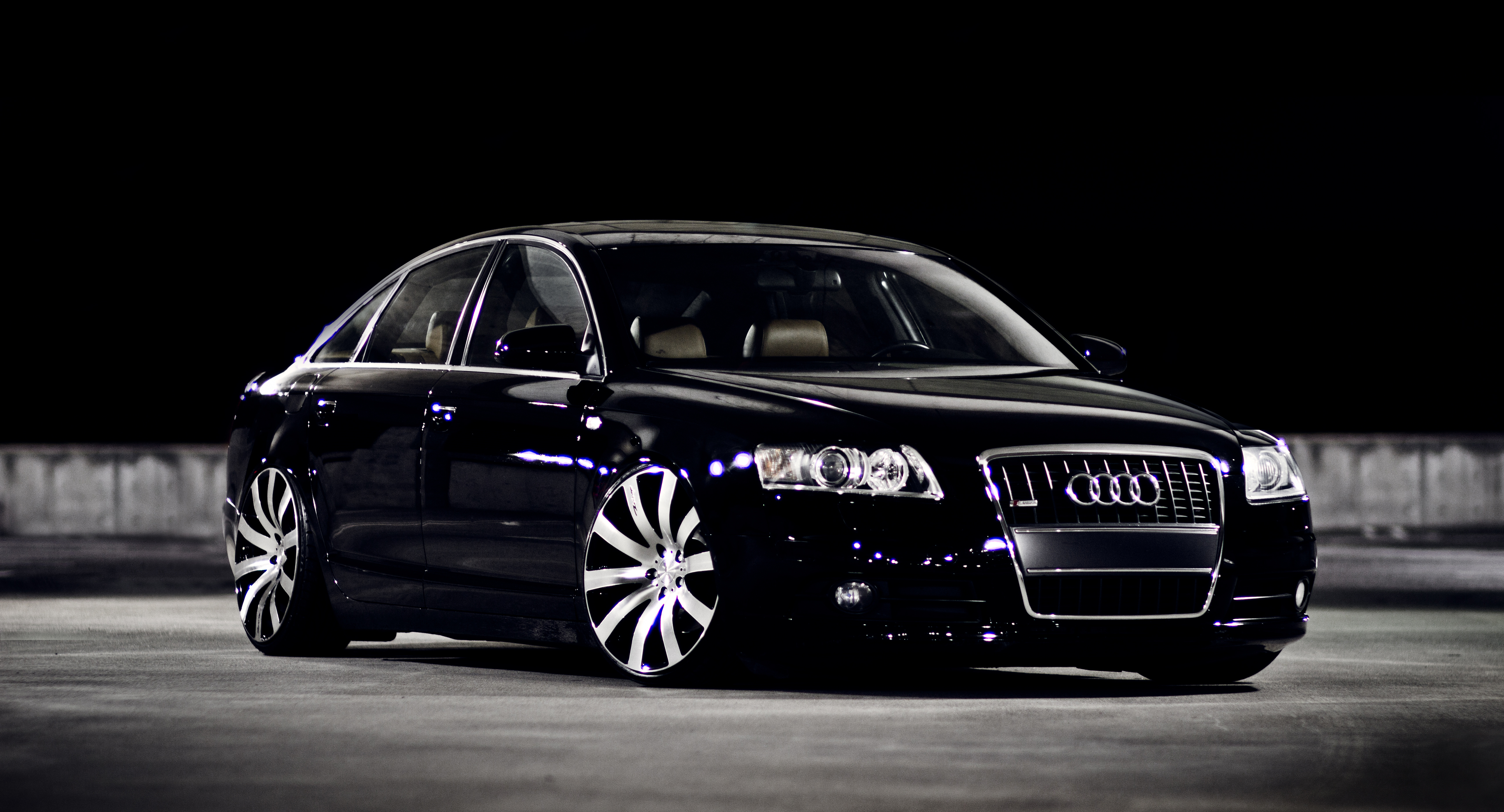 4K wallpaper   Cars   black audi A6   5184x2800 5184x2800