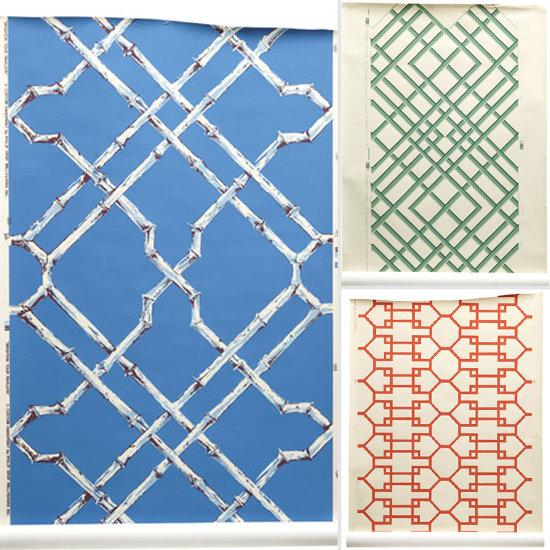 Trellis Background Wallpaper: Bamboo Lattice Wallpaper