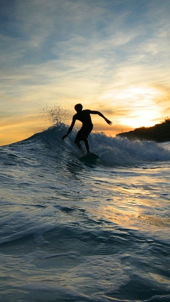Surfing At Twilight iPhone 6 6 Plus and iPhone 54 Wallpapers 576x1024