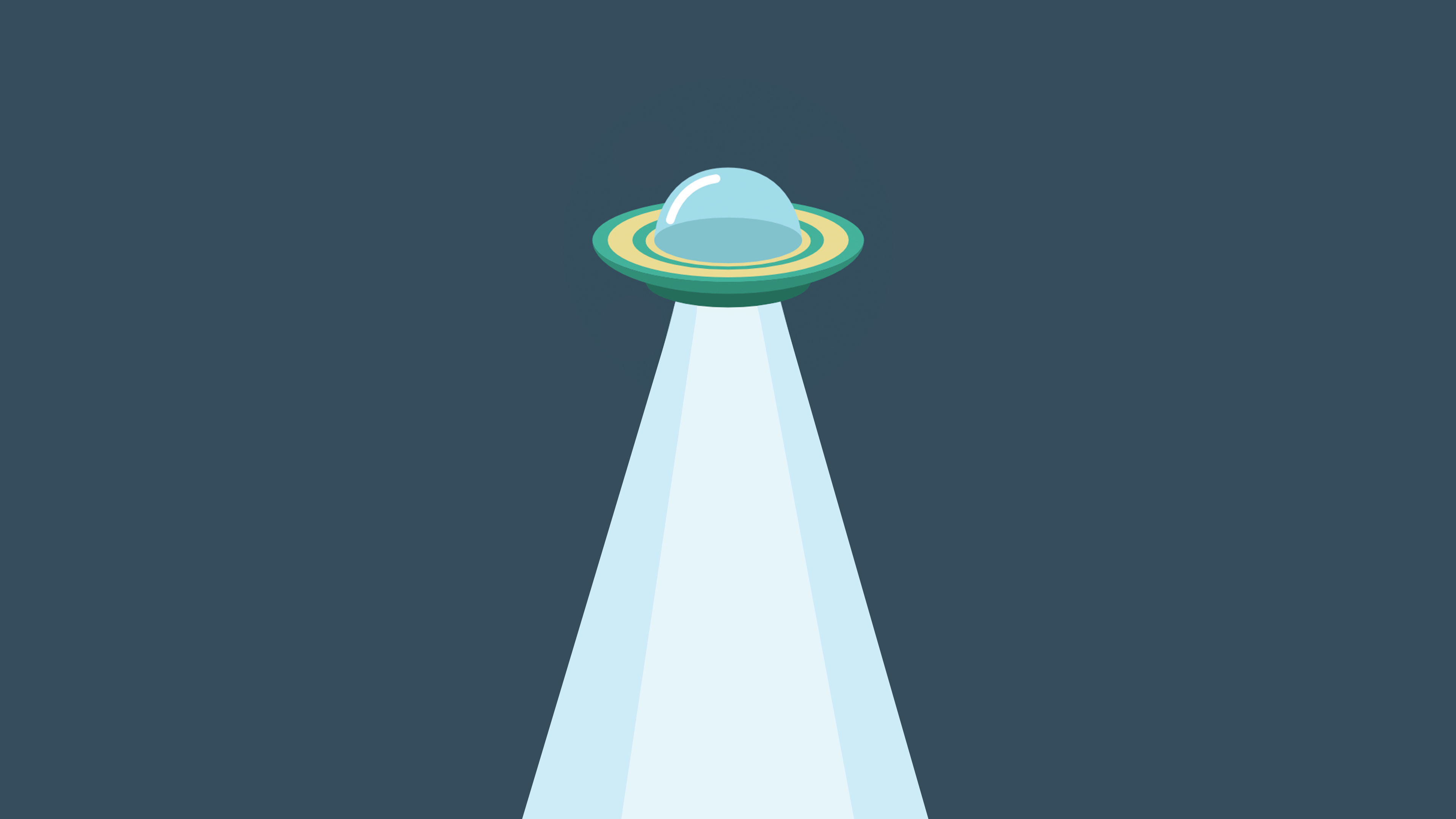 Unidentified Flying Object MNML Wallpapers 3840x2160