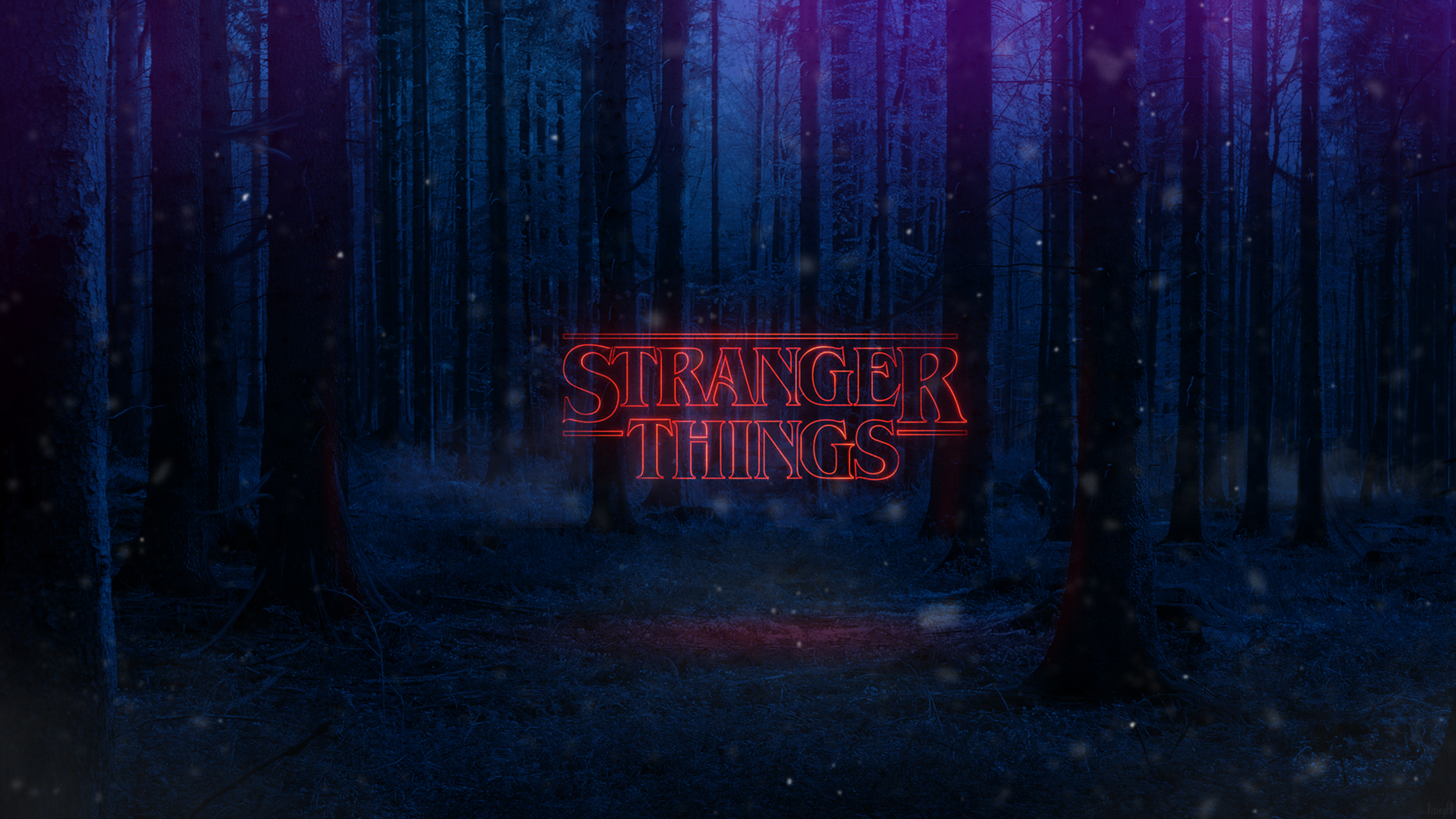 Stranger Things Text Poster Full HD Wallpaper 3840x2160