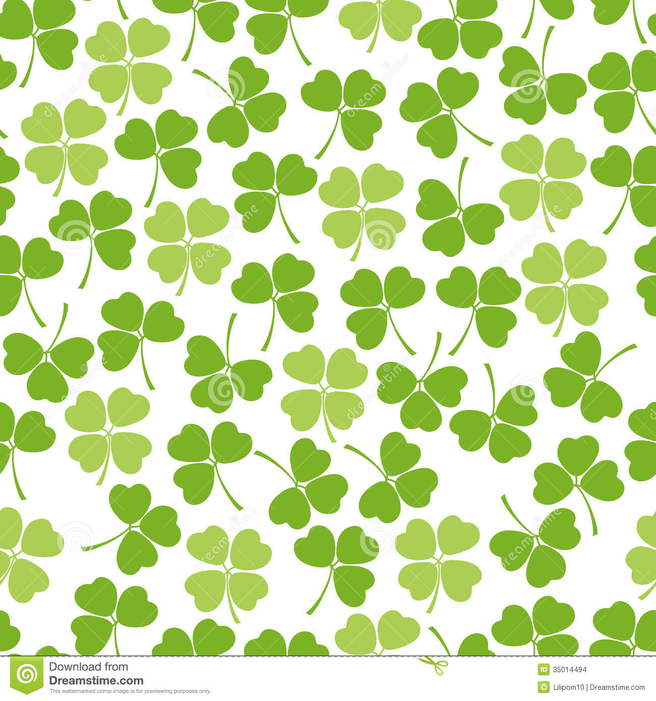 Irish Clover Background Seamless clover background stock images 1300x1390