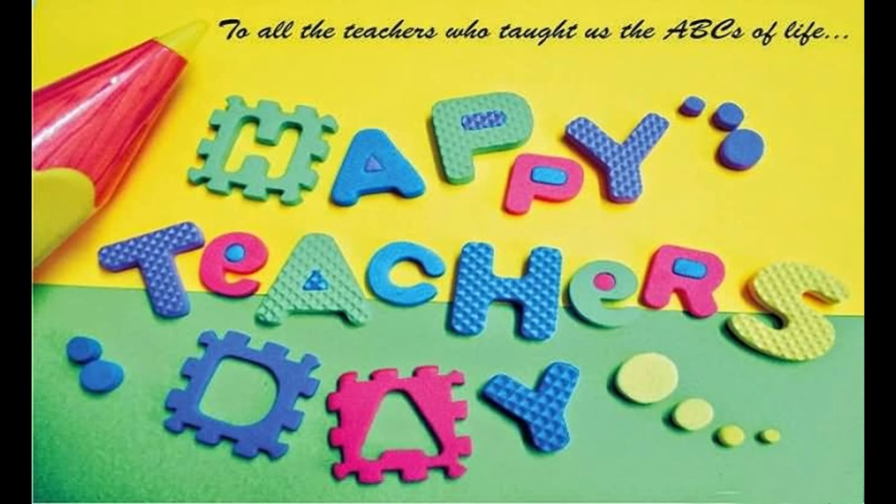 Happy Teachers Day Greeting Wallpaperhappy Teachers   World 1280x720