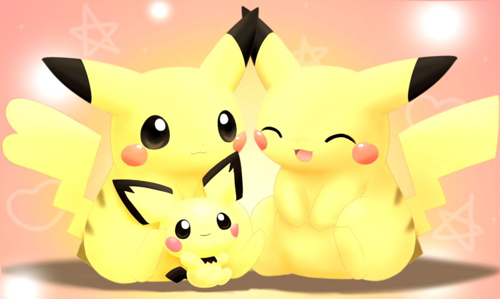 Pokemon Pikachu Smile Wallpaper Hd Laptop Wallpapers 1596x955