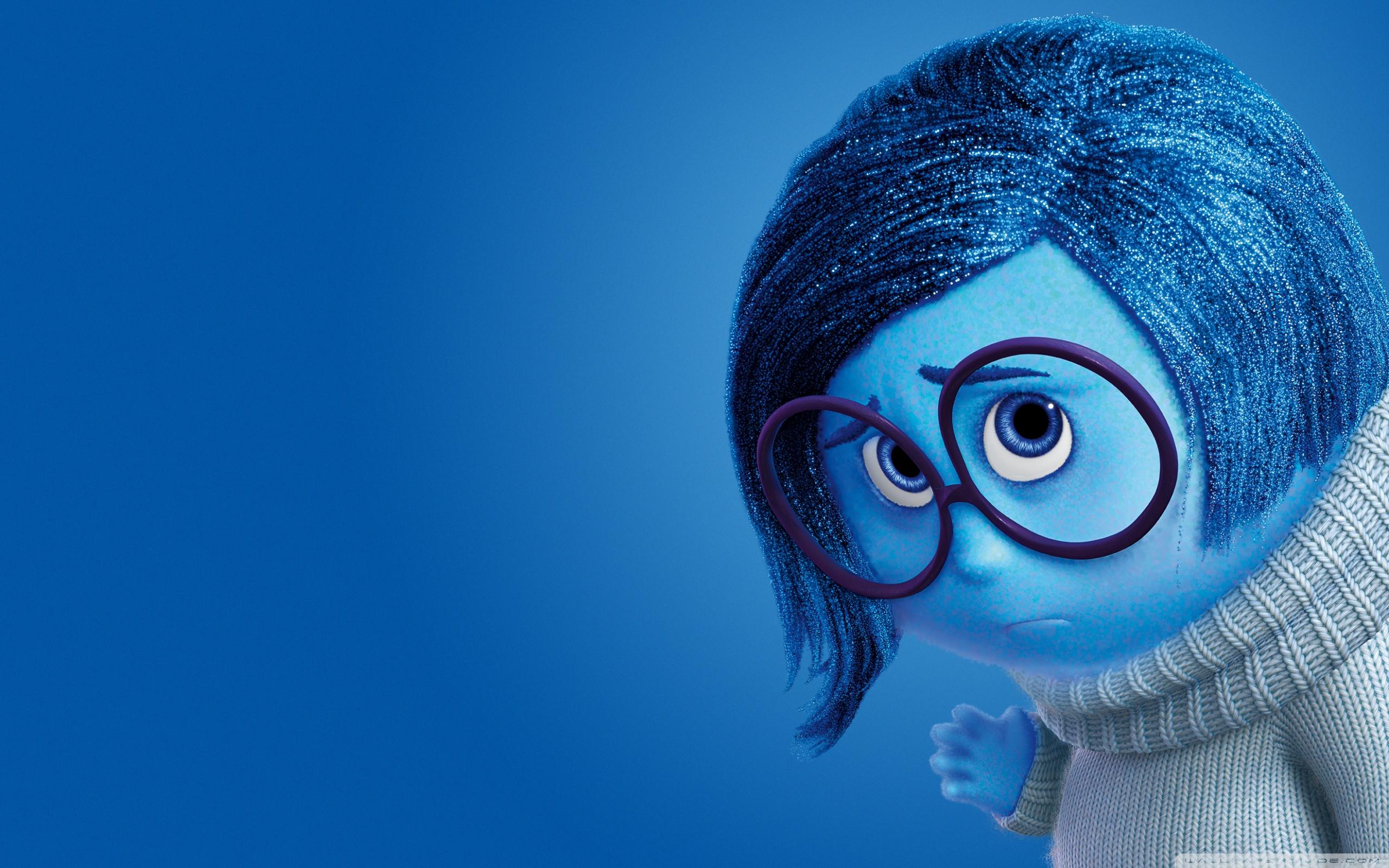 Inside Out Sadness   Disney Pixar 4K HD Desktop Wallpaper for 2560x1600