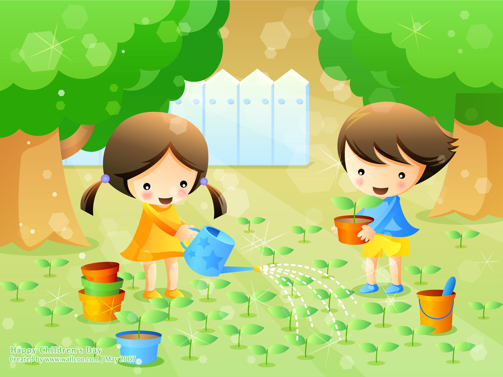 Colourful Illustrations for Childrens Day 16001200 NO14 Wallpaper 1600x1200