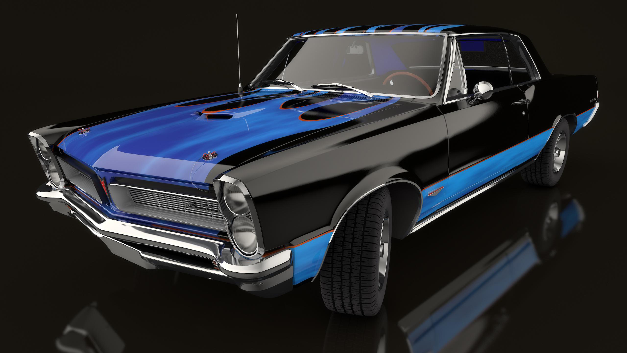 Classic Muscle Cars Black Wallpaper All About Gallery Car 2560x1440