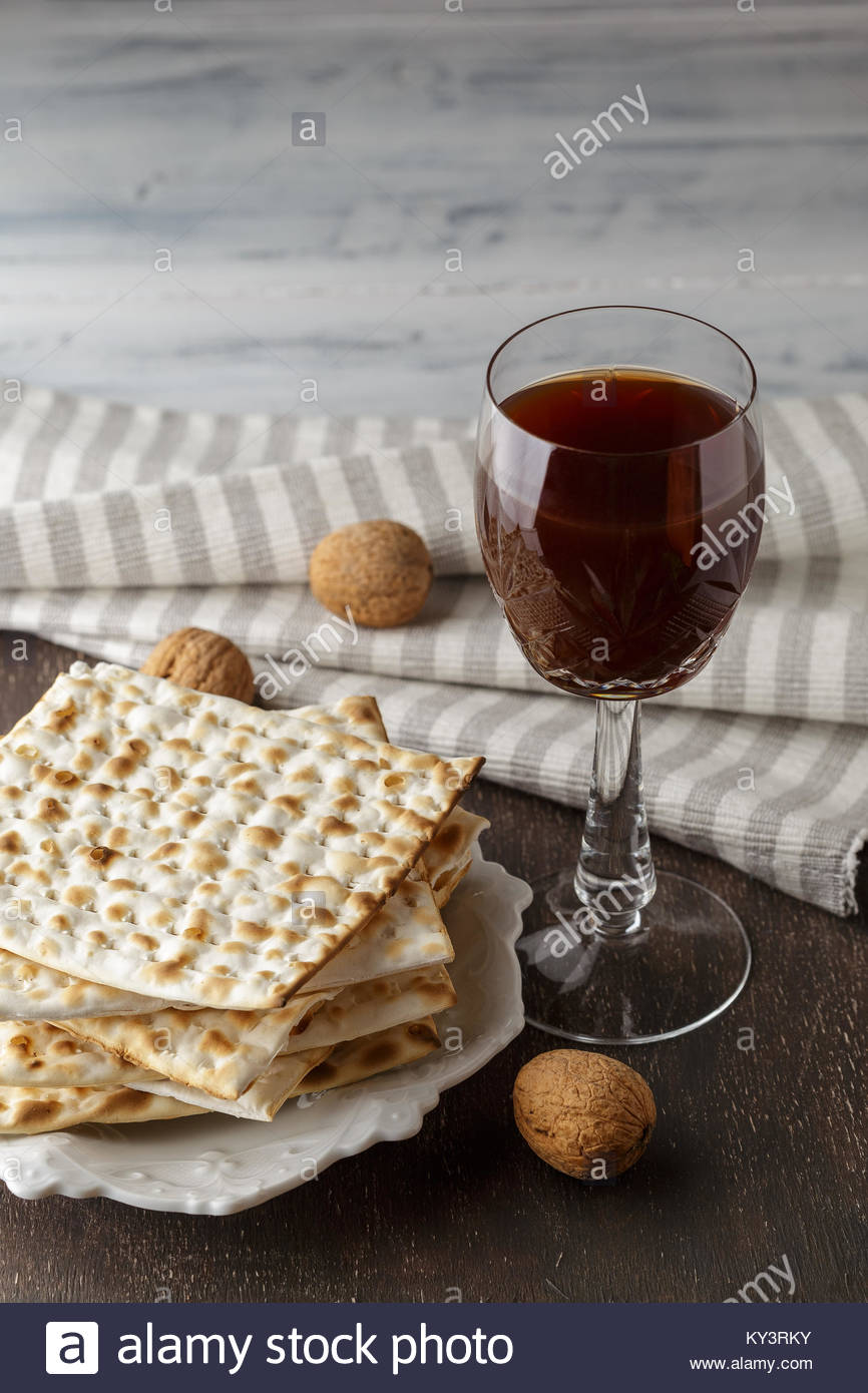 Best A jewish matzah bread with wine passover holiday concept 866x1390