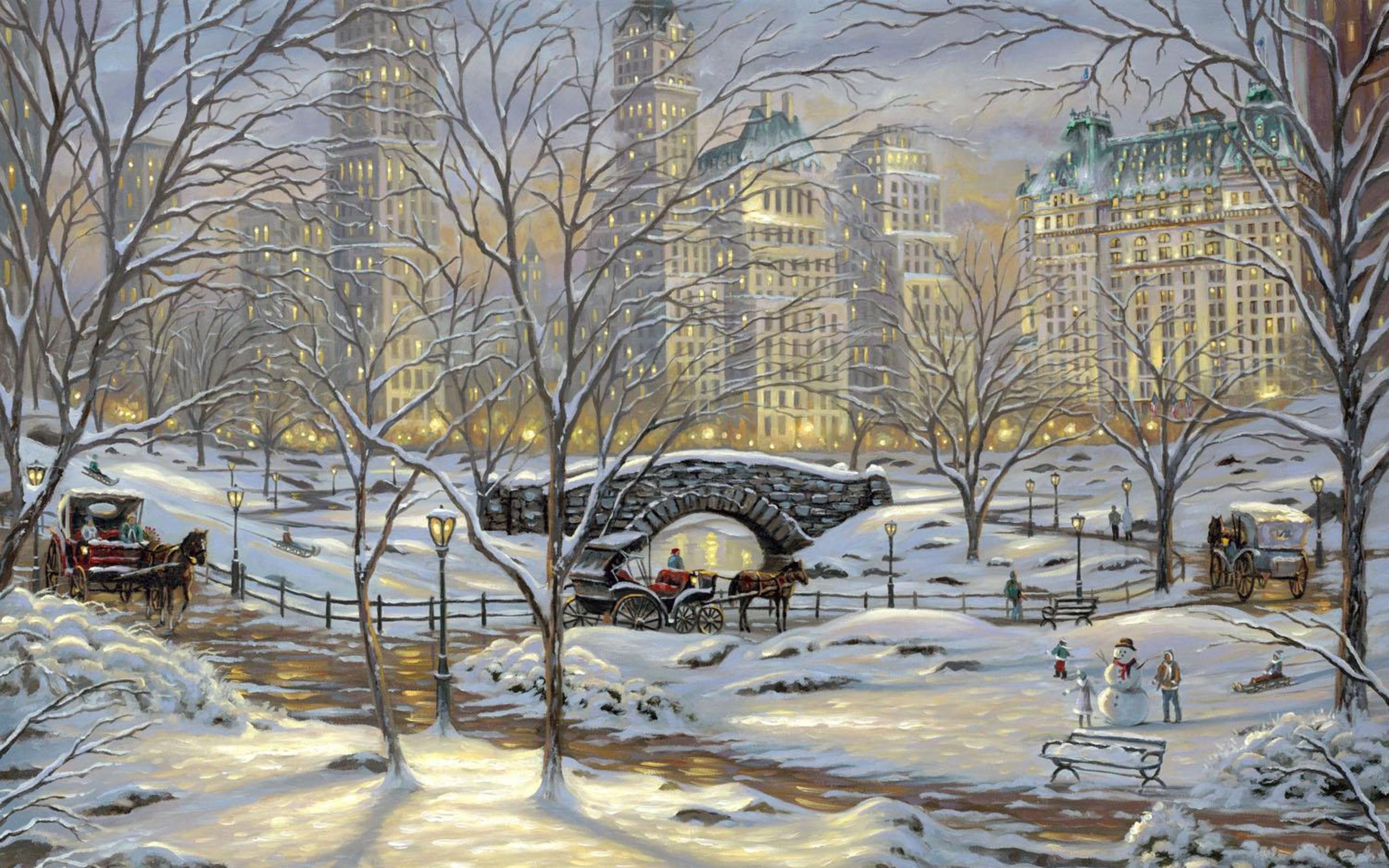 New York City Winter Wallpaper 2560x1600