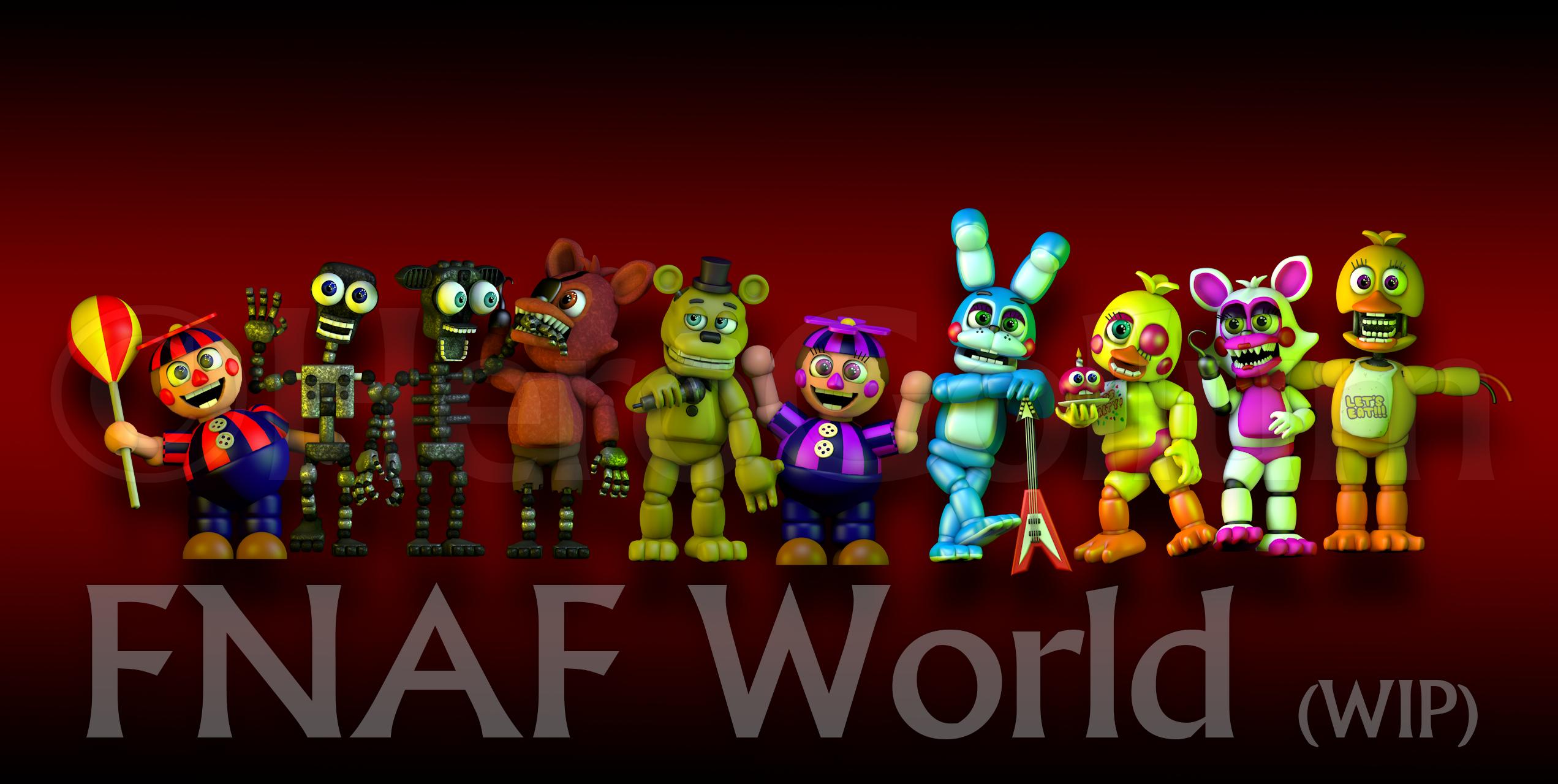 FNAF World Art by HeroGollum 2543x1280