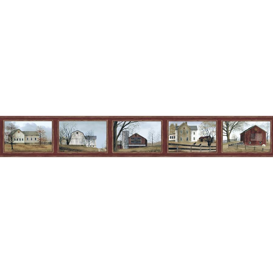 Wallcoverings 9 in Burgundy Prepasted Wallpaper Border at Lowescom 900x900