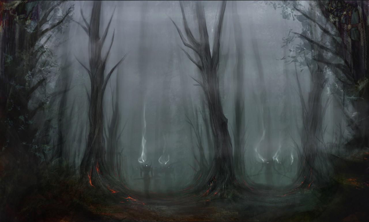 Scary Forest Background wallpaper wallpaper hd background desktop 1280x771