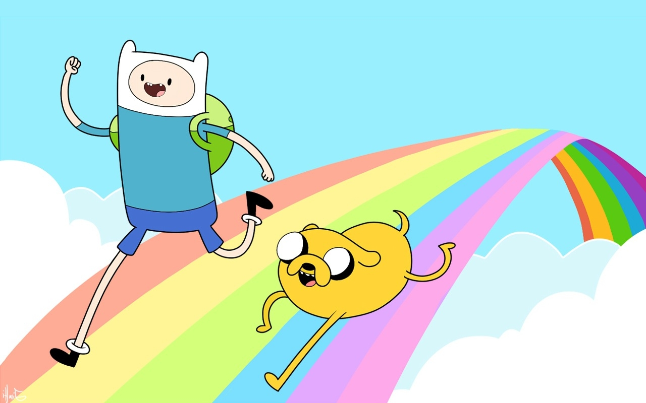Time Wallpaper 1280x800 Adventure Time With Finn And Jake 1280x800