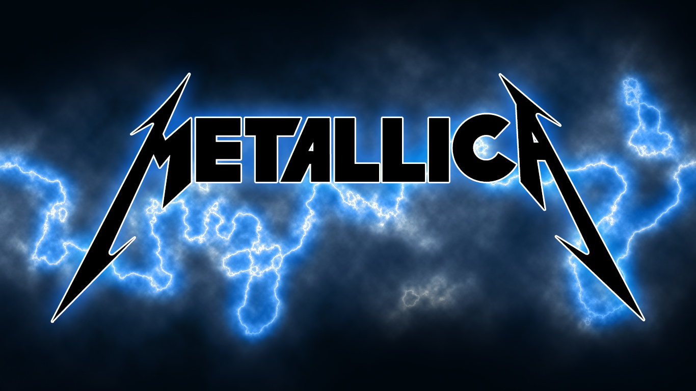 metallica lighting logo wallpaper - photo #2
