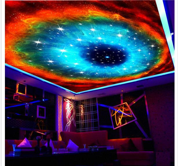 Free Download Wallpaper Mural Wall Galaxy Ceiling 3d Mural
