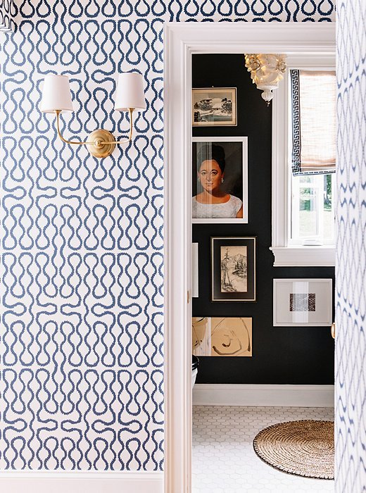 one kings lane pencil paper VERTICAL INTO BATHROOM WITH WALLPAPER 520x700