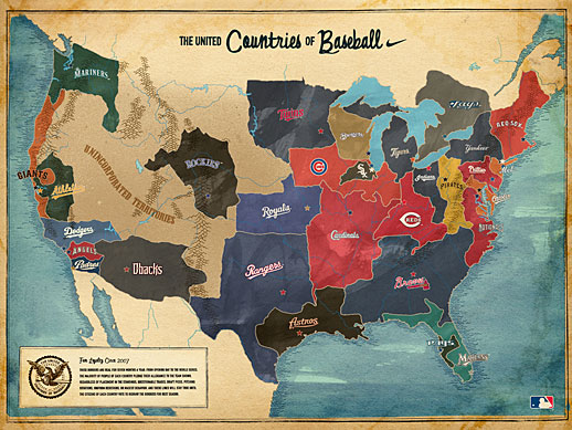 map from the official mlb united countries of baseball site 518x389