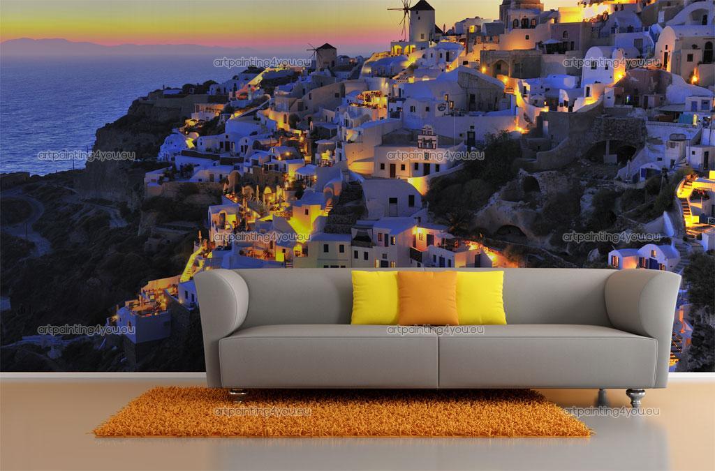 Wall Murals Cities Canvas Prints Posters   Santorini Island 2327en 1024x675