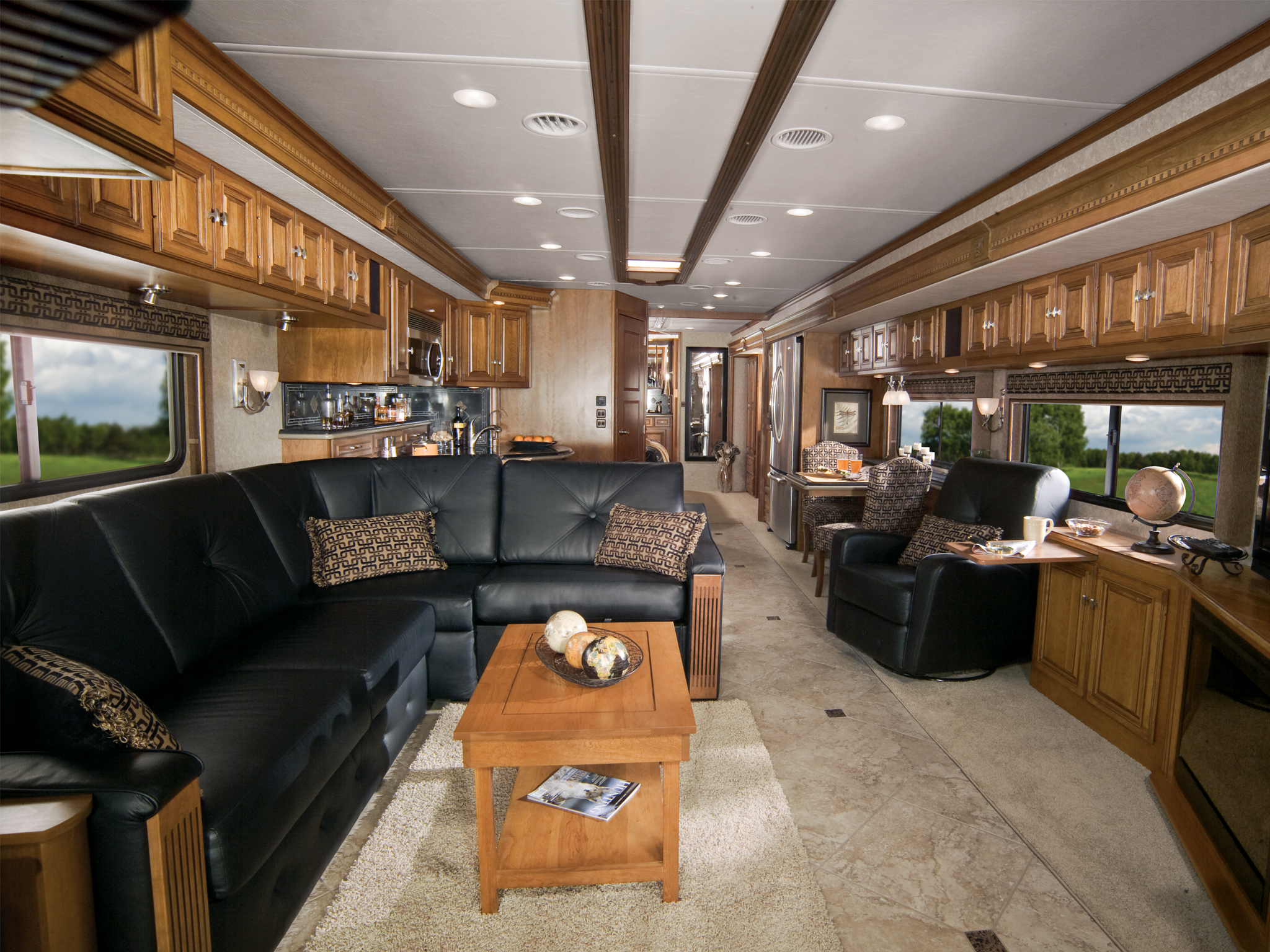 Airstream Floor Plan With Front Kitchen And Bedroom Back