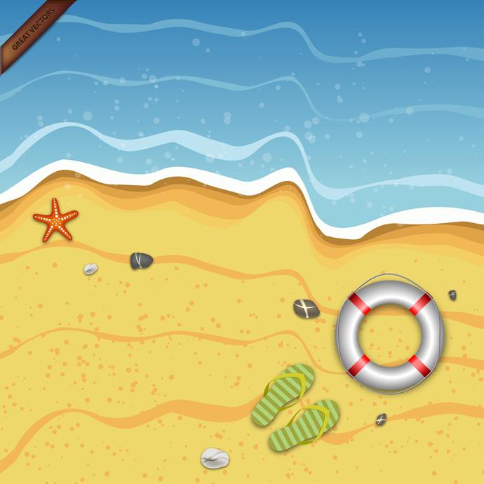 Tropical Summer Background   GreatVectors GreatVectors 690x690