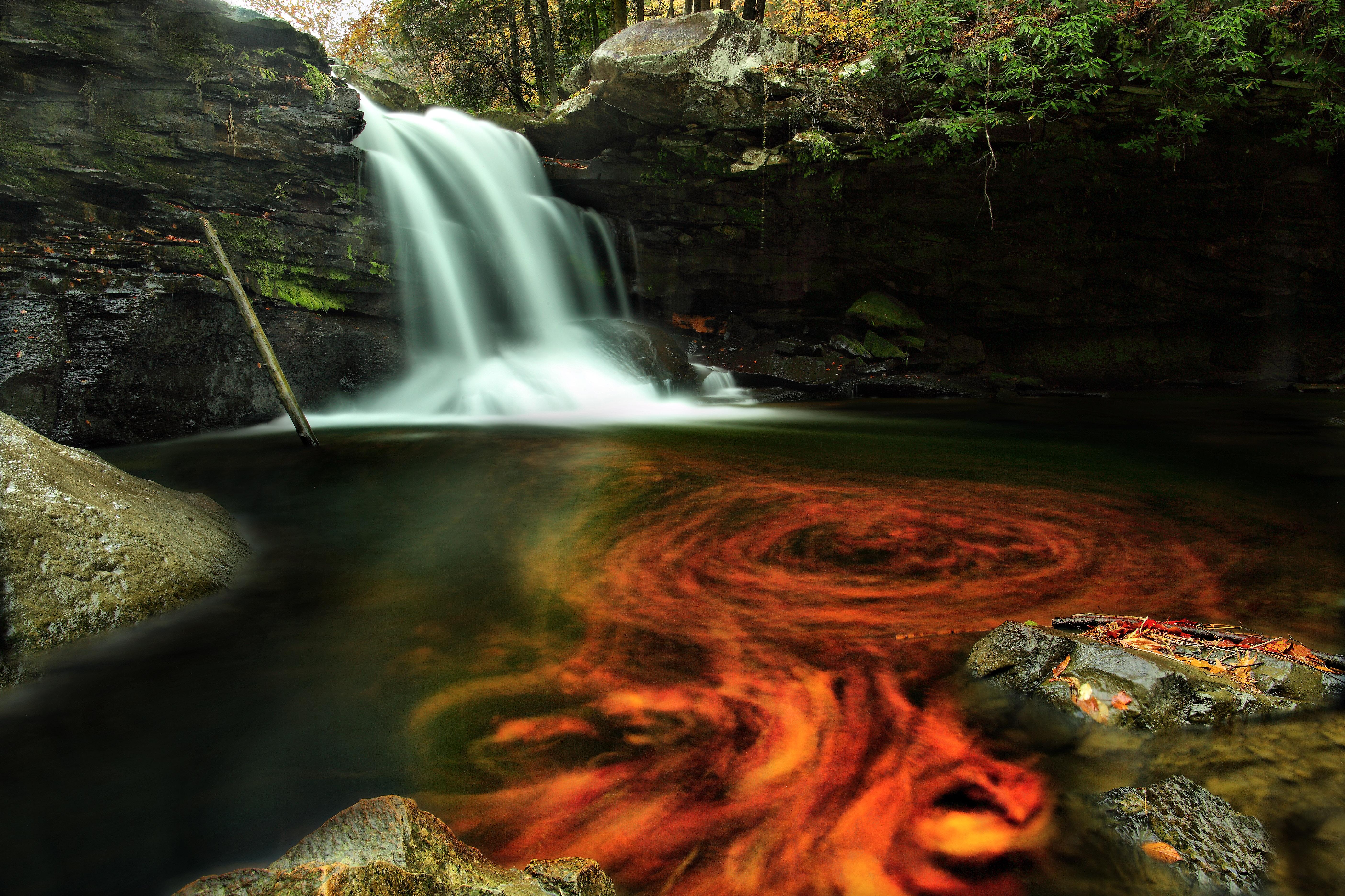 FileFiery autumn waterfall   Virginia   ForestWanderjpg   Wikimedia 5616x3744