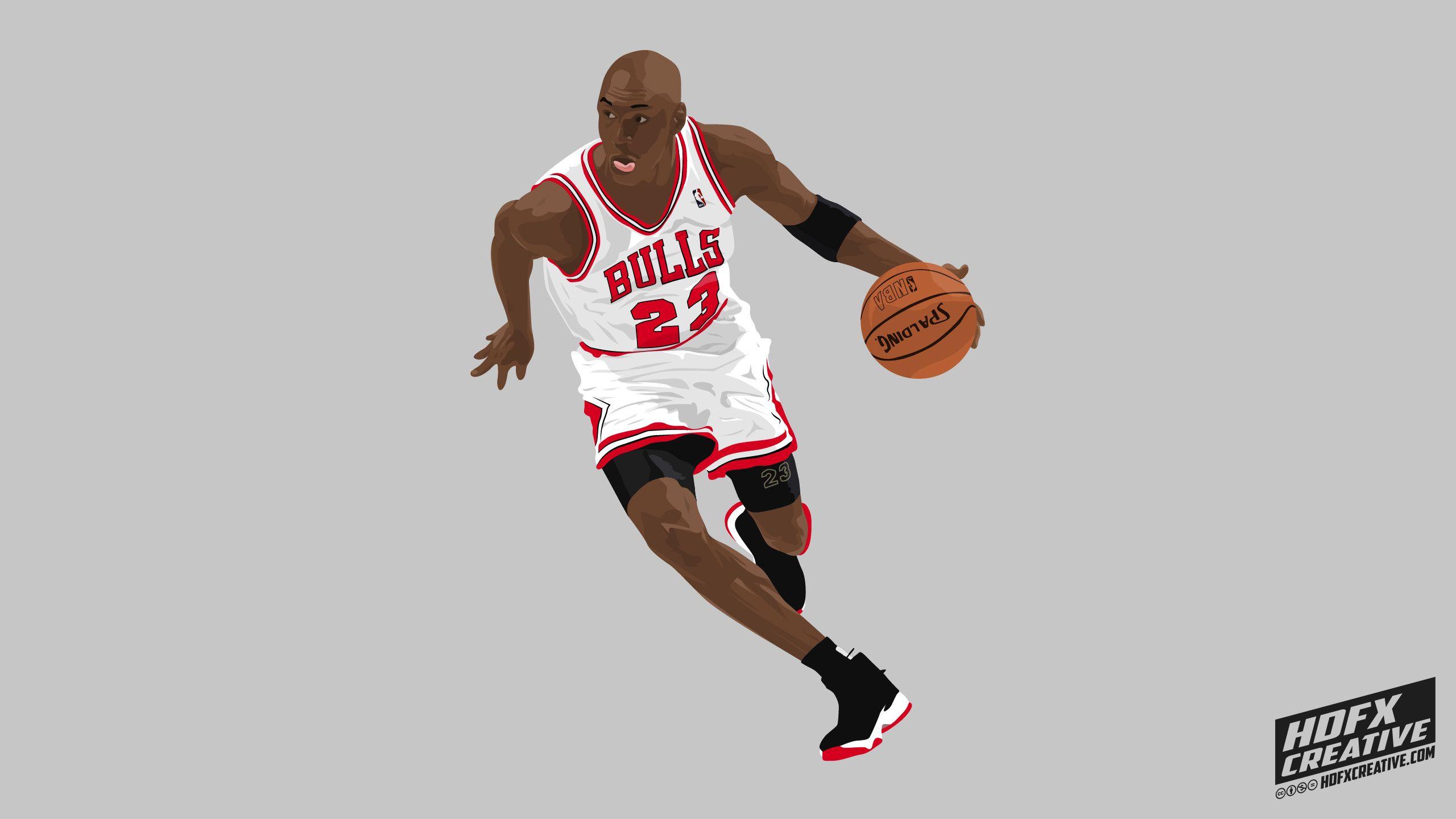 Michael Jordan Cartoon Wallpaper: [32+] Michael Jordan And Stephen Curry Wallpapers On