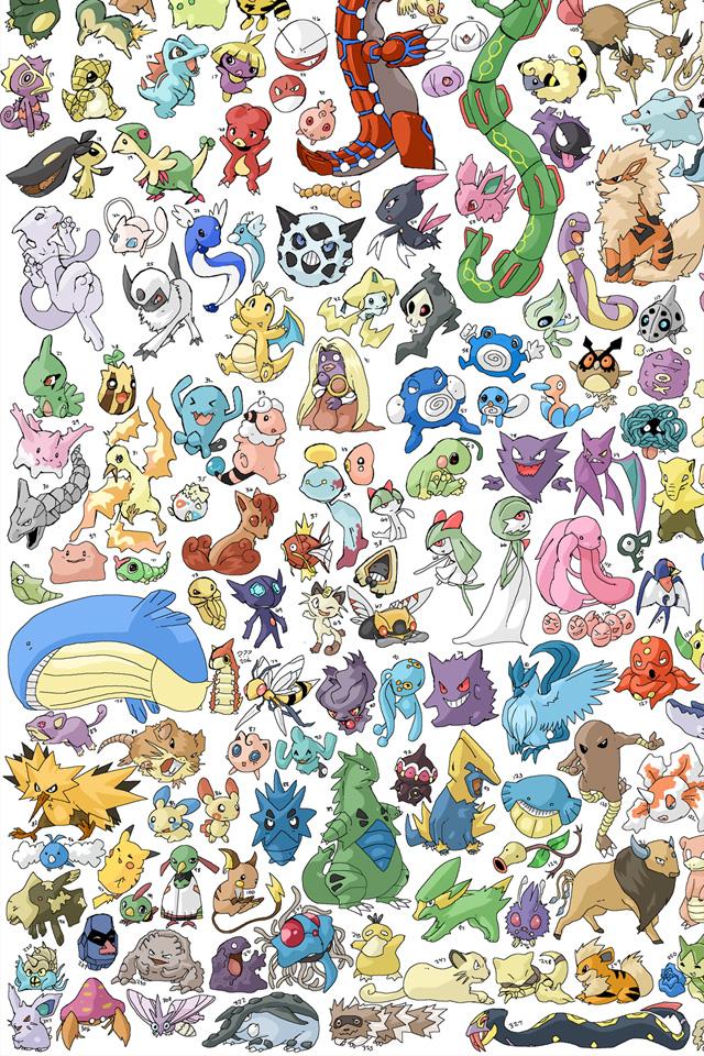 Pokemon Pattern iPhone Wallpaper HD 640x960