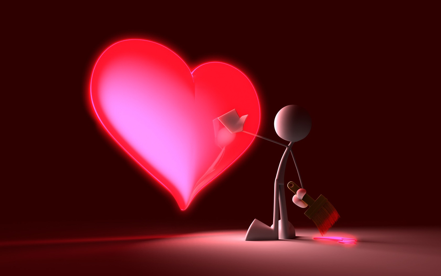touch my heart wallpaper 3d characters 3d wallpaper 1680 1050 1680x1050