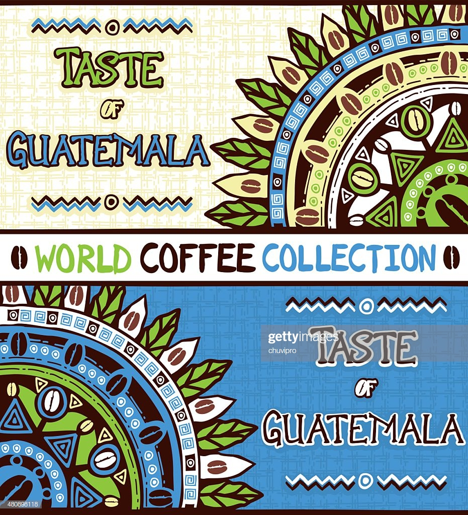 Coffee Background Taste Of Guatemala Hand Drawn Design Elements 931x1024