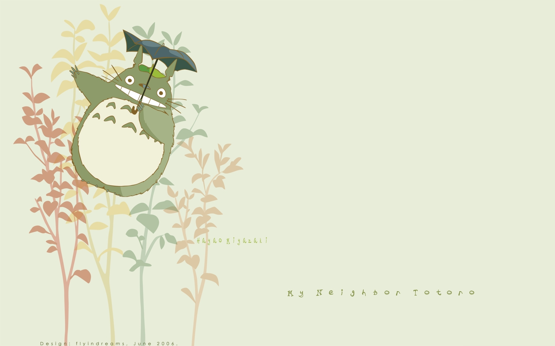 Totoro Studio Ghibli Art Wallpaper 1920x1200 Full HD Wallpapers 1920x1200