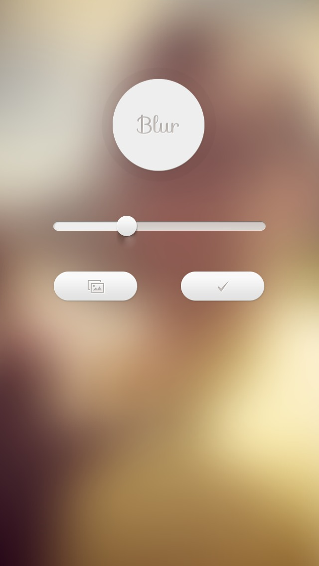 Using this blurred version of my lockscreen photo on my homescreen 640x1136
