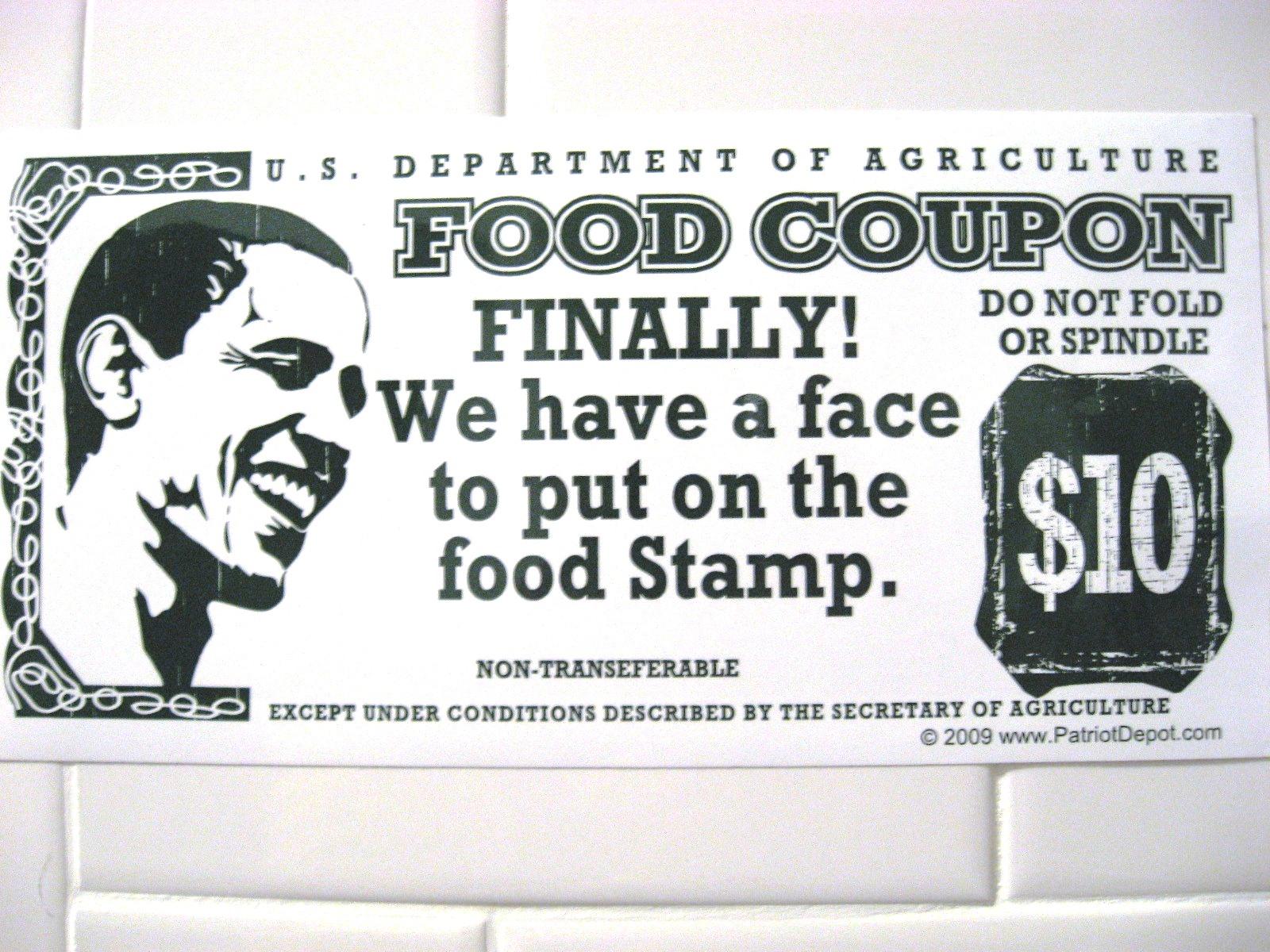 Urban Infidel Anti Obama Political Bumper Sticker Obama The Food 1600x1200