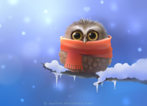 found these cutest winter themed animal wallpaper to cheer you up in 500x359