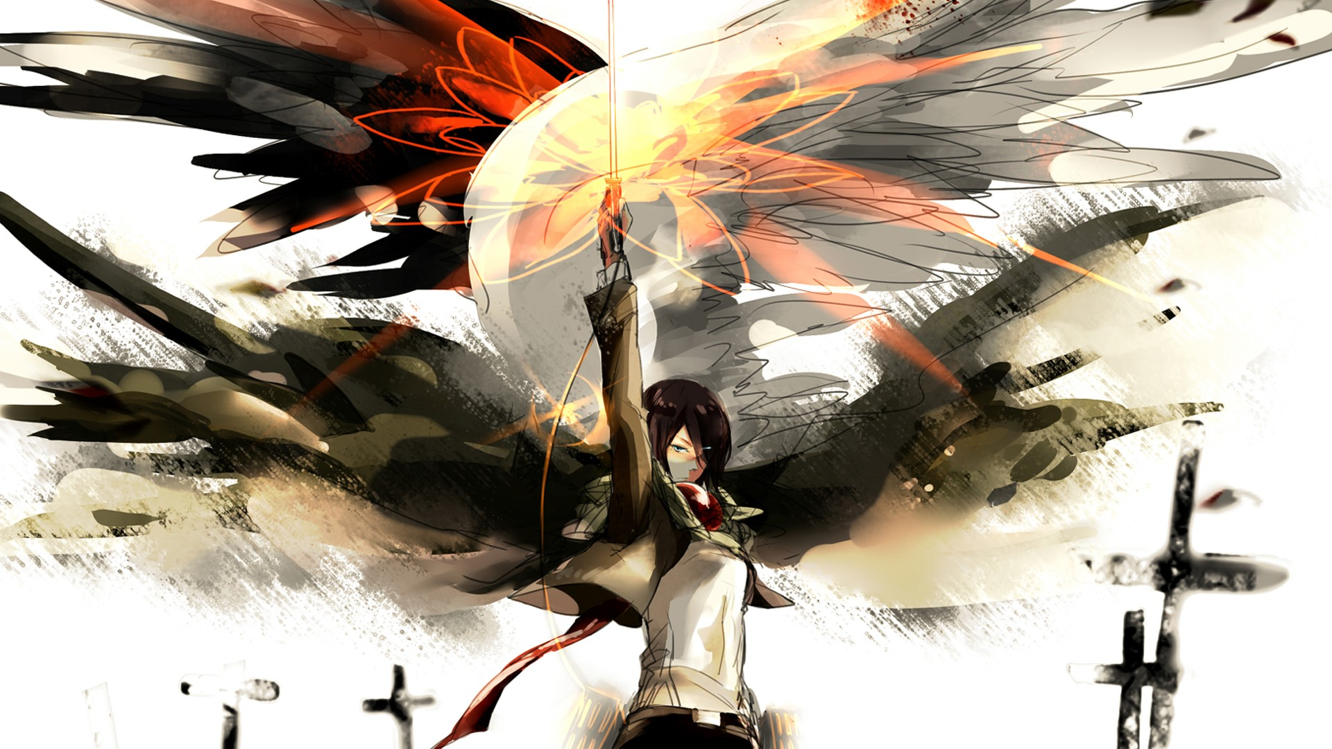 49 Attack On Titan Mikasa Wallpaper On Wallpapersafari